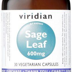 Sage Leaf 600mg 30 Veg Capsules