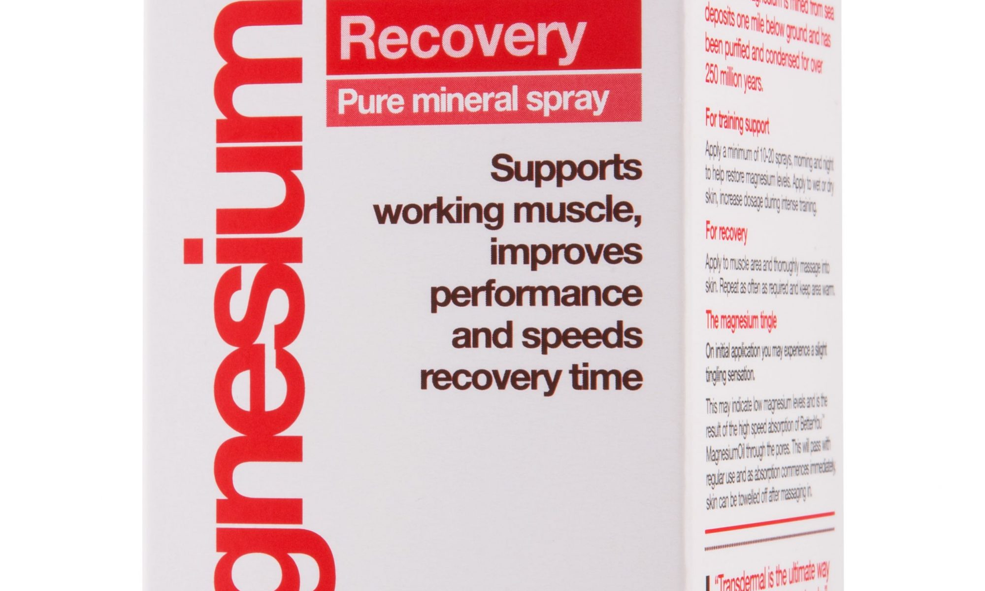 recovery oil spray